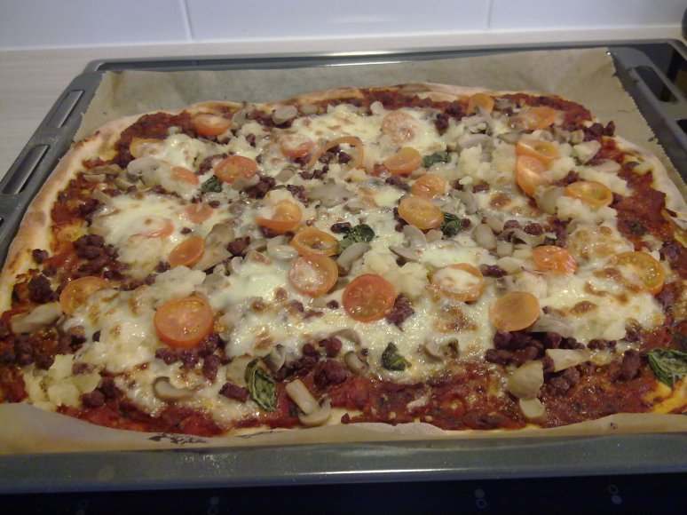 Pizza strait from the oven