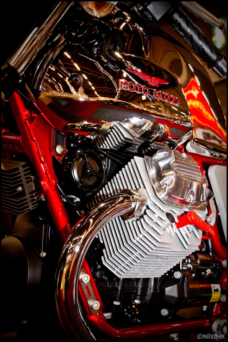 Moto Guzzi engine close up